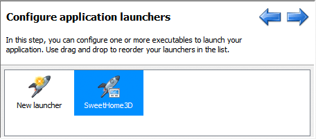 تحزيم تطبيقات الجافا الرسومية و إنشاء ملف تنصيب setup باستخدام install4j ApplicationLauncherIcon