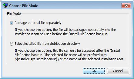 تحزيم تطبيقات الجافا الرسومية و إنشاء ملف تنصيب setup باستخدام install4j ChooseFileMode