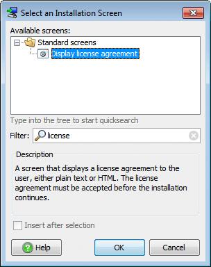 تحزيم تطبيقات الجافا الرسومية و إنشاء ملف تنصيب setup باستخدام install4j SelectDisplayLicenseAgreementInstallationScreen
